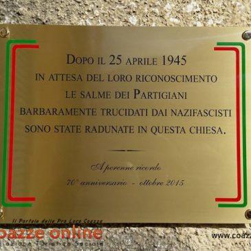 A perenne ricordo del 70° anniversario