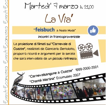 "La Vià ""feisbuch a nosta moda"", Martedì 07/03/2017"