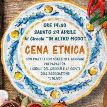 Sabato 29 aprile: Cena Etnica