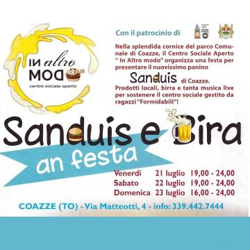 Venerdì 21, Sabato 22 e Domenica 23 luglio: Sanduis e Bira an Festa