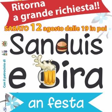 Sabato 12 agosto: Sanduis e Bira an Festa