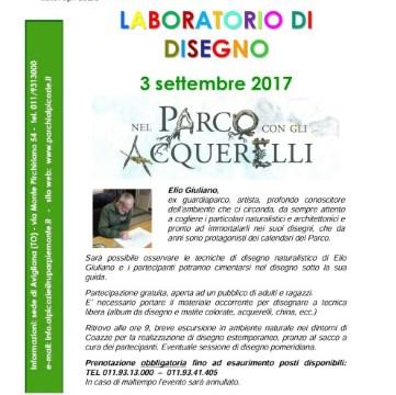 Domenica 3 settembre, Laboratorio di disegno con Elio Giuliano