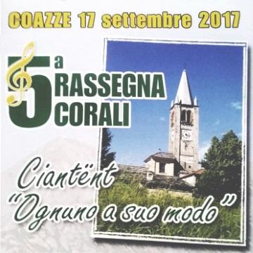 Domenica 17 settembre: 5^ Rassegna Corali