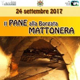 Sabato 23 e domenica 24 settembre: Il Pane a Borgata Mattonera