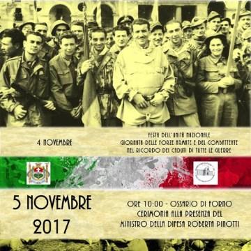 5 novembre 2017 – Cerimonia all'Ossario di Forno