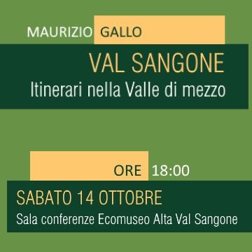 """Sabato 14 ottobre: """"Val Sangone. Itinerari nella Valle di mezzo"""""""