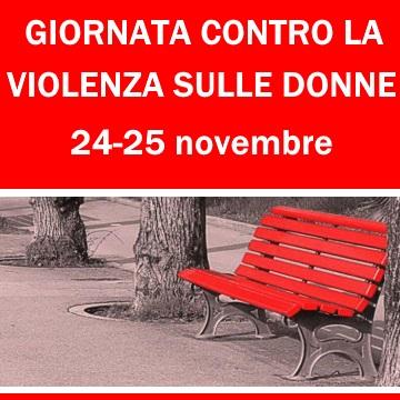 Venerdì 24 e sabato 25 novembre – Giornata contro la violenza sulle donne
