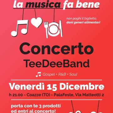 Venerdì 15 dicembre – Concerto TeeDeeBand