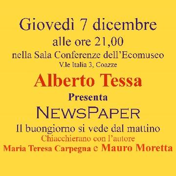 """Giovedì 7 dicembre – Presentazione del libro """"NewsPaper"""""""