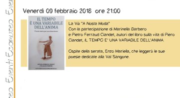 "Venerdì 9 febbraio – La Vià ""A Nosta Moda"""