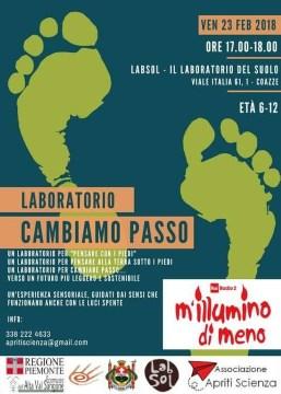 Venerdì 23 febbraio – Laboratorio CAMBIAMO PASSO