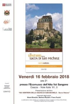 """Venerdì 16 febbraio – Presentazione libro """"Sui sentieri della Sacra di San Michele"""""""